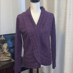 Karen Scott Knit Cardigan XS Purple A87